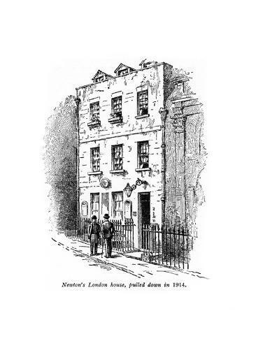 Sir Isaac Newton's House, London Giclee Print