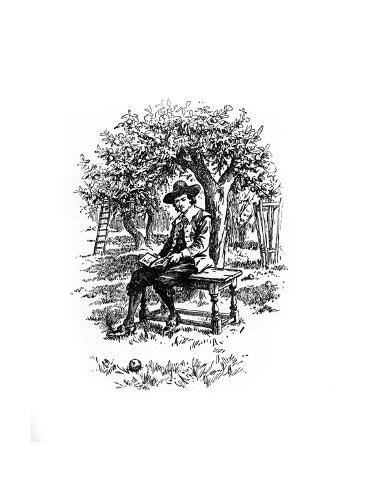 Sir Isaac Newton under the Apple Tree Giclee Print