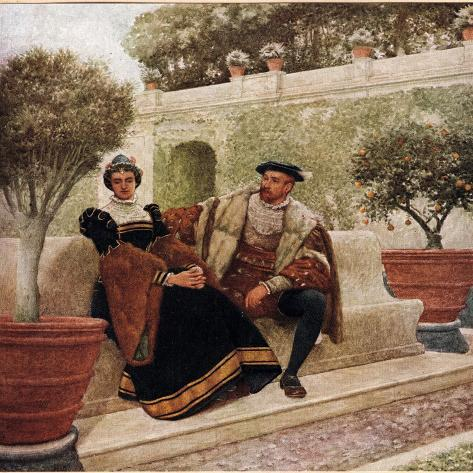 Lorenzo and Jessica, Illustration from 'The Merchant of Venice', c.1910 Giclee Print