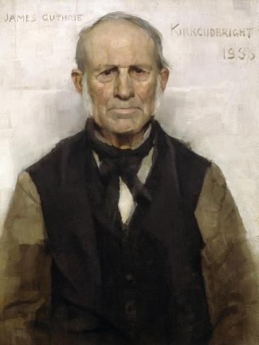 Old Willie - the Village Worthy, 1886 Lámina giclée