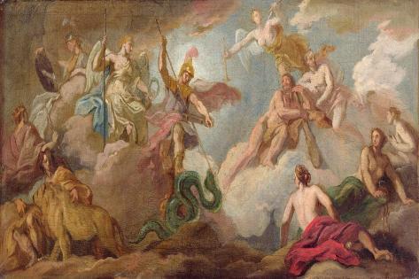 The Victory of Apollo, C.1716 Impressão giclée
