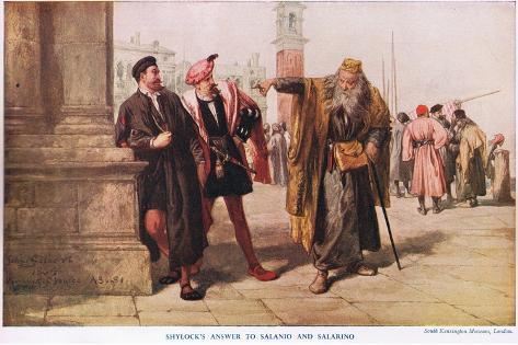 Shylocks Answer Giclee Print