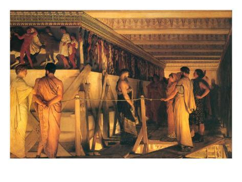 Phidias Showing the Frieze of the Parthenon to His Friends Art Print