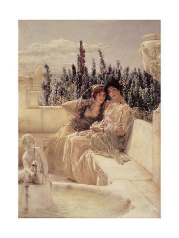 Whispering Noon, 1896 Lámina giclée