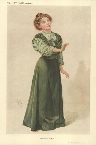 Miss Christabel Pankhurst Giclee Print