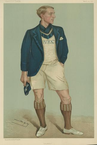 W E Crum, President of the Oxford University Boat Club Giclee Print