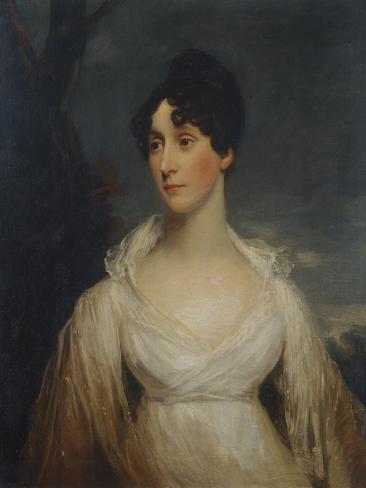 Portrait of a Lady Seated, Half Length, Wearing a White Dress Lámina giclée