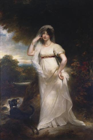 Portrait of Harriet Wells in a River Landscape Lámina giclée