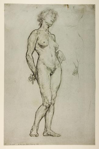 Study of a Female Figure, 1898 Lámina giclée