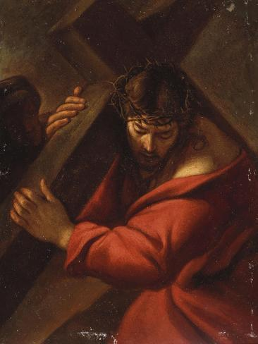 Christ on the Road to Calvary Giclee Print