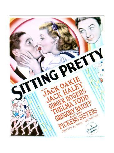Sitting Pretty - Movie Poster Reproduction Art Print