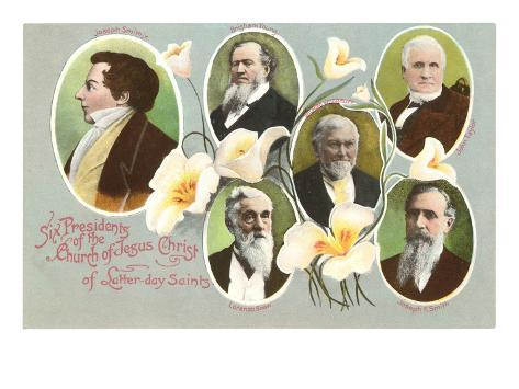 Six Presidents of the Mormons Art Print