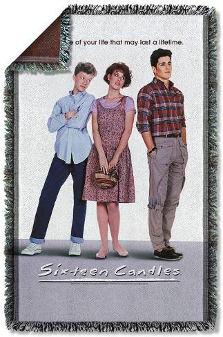 Sixteen Candles - Poster Woven Throw Throw Blanket