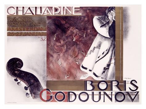 Boris Godounov, Chaliapine Giclee Print