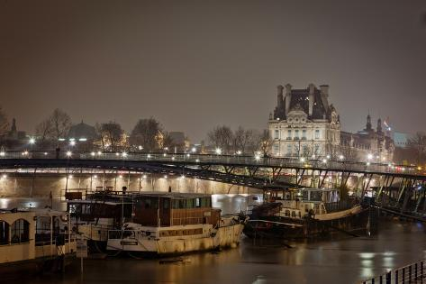Night View of Paris - France. Photographic Print