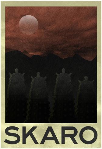 Skaro Retro Travel Poster Poster
