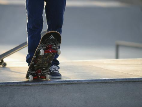 Skateboarder on Ramp Photographic Print