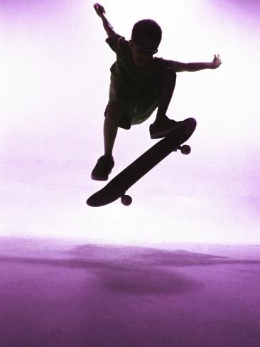 Skateboarder Silhouette Photographic Print