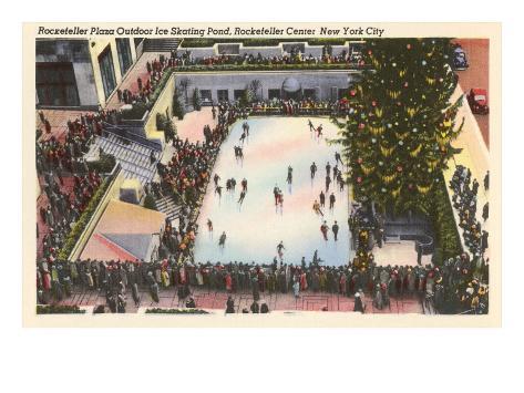 Skating Rink, Rockefeller Center, New York City Art Print