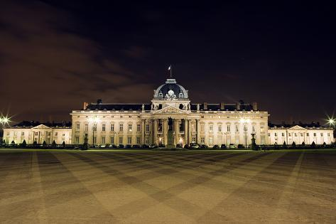 Ecole Militaire by Night, Paris, France Photographic Print