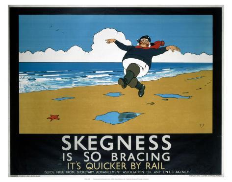 Skegness Is So Bracing Art Print