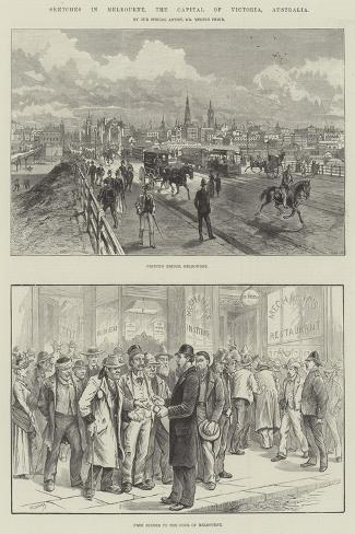 Sketches in Melbourne, the Capital of Victoria, Australia Giclee Print