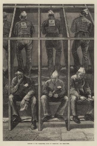 Sketches in the Clerkenwell House of Correction, the Treadwheel Giclee Print