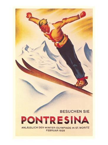 Ski Jumping Poster Art Print
