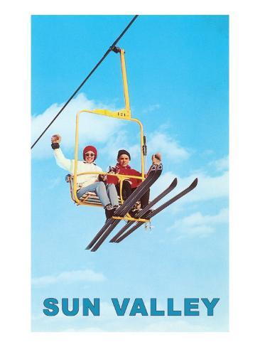 Ski Lift, Sun Valley, Idaho Art Print