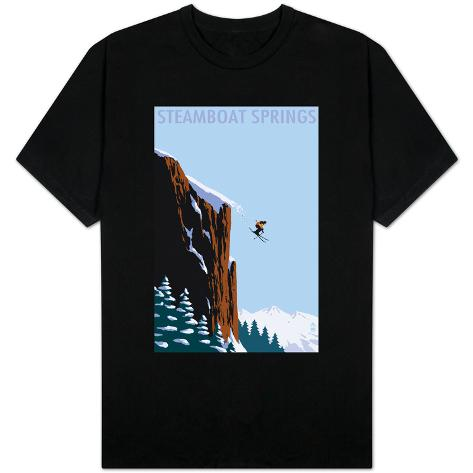 Skier Jumping Steamboat Springs Colorado T Shirt