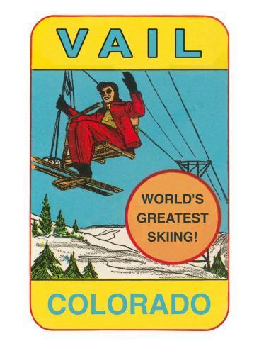 Skiing, Vail, Colorado Art Print