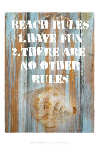 Beach Rules II Art Print