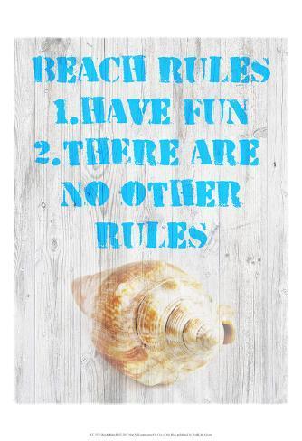 Beach Rules III Art Print
