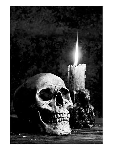 オールポスターズの skull candle black white 高画質プリント
