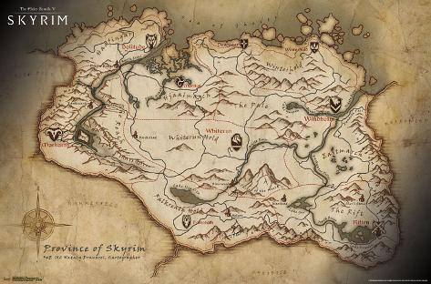 Mesmerizing image for printable skyrim map
