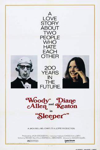 Sleeper, US poster, Woody Allen, Diane Keaton, 1973 Stampa artistica