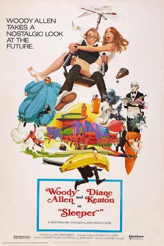 Sleeper, Woody Allen, Diane Keaton, 1973 Lámina