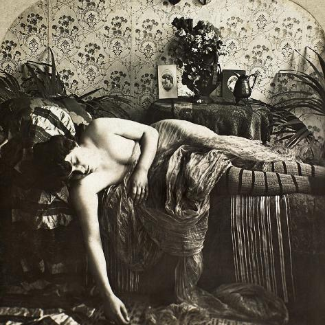 Sleeping Woman, C1900 Stretched Canvas Print