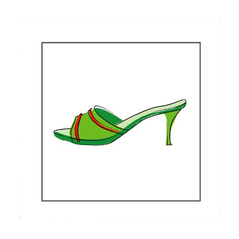 Slip on High Heeled Shoe Stampa giclée
