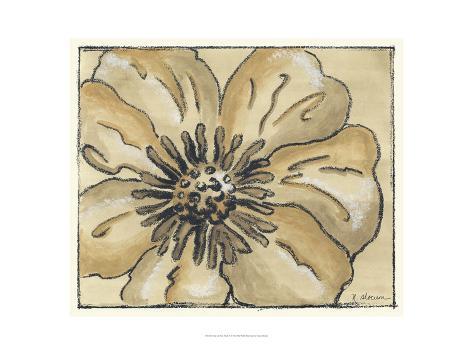 Tone on Tone Petals II Art Print