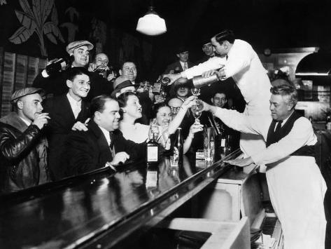 Sloppy Joe's Bar, in Downtown Chicago, after the Repeal of Prohibition. December 5, 1933 Photo