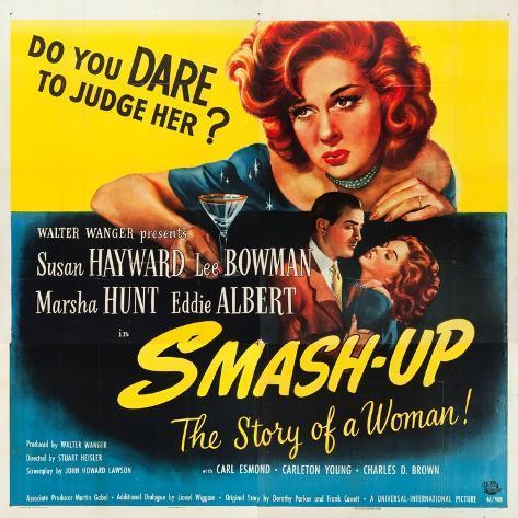 Smas-Up, Susan Hayward, Lee Bowman, Susan Hayward on poster art, 1947 Impressão artística