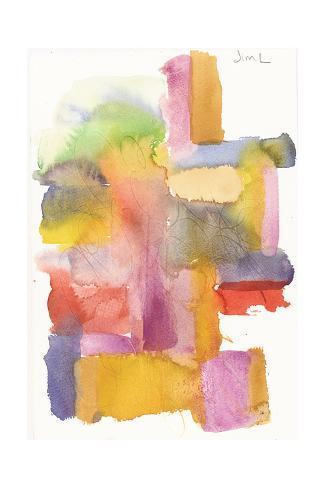 Smeared Watercolor Pattern Art Print