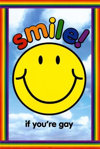 Smile if You're Gay Poster