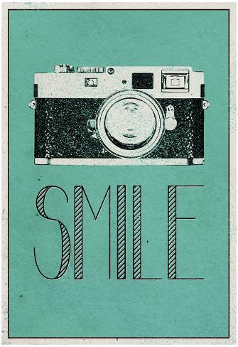 Smile Retro Camera Poster