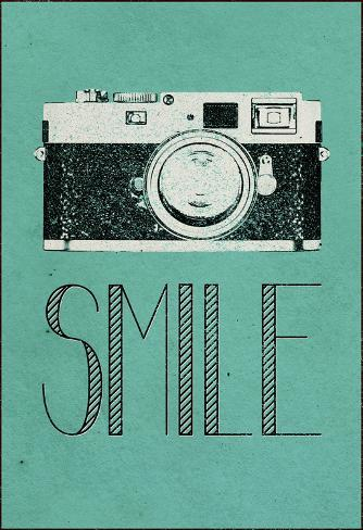 Smile Retro Camera Stretched Canvas Print