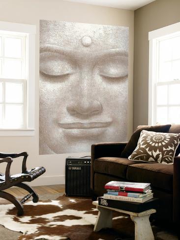 Smiling Buddha Mini Mural Huge Poster Art Print Mural de papel de parede