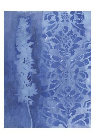 Blue Damask Delphinium Art Print