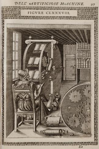 Smithsonian Libraries: Figure CLXXXVIII. Le diverse et artificiose machine by Agostino Ramelli Giclee Print