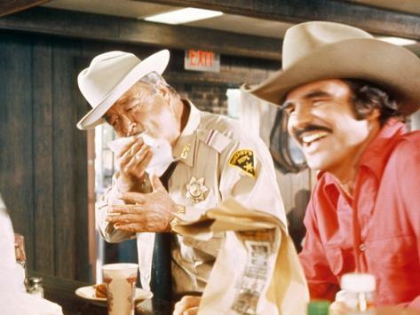 Smokey And The Bandit, Jackie Gleason, Burt Reynolds, 1977 Fotografía